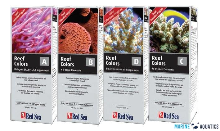 Red Sea SET - Coral Colors A+B+C+D (4 x 500ml)
