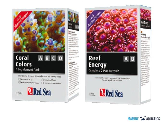 Red Sea SET - Reef Energy AB + CoralColors ABCD