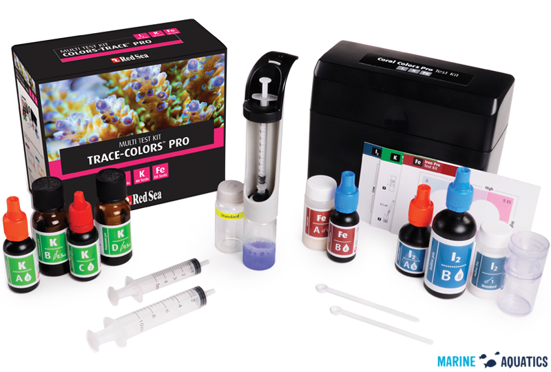 Red Sea Coral Colors PRO Multi Test Kit - sada testů na jód, draslík a železo (I2,K,Fe) + přenosný box