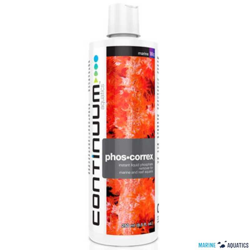 phos correx liguied phosphate remover 250ml continuum aq