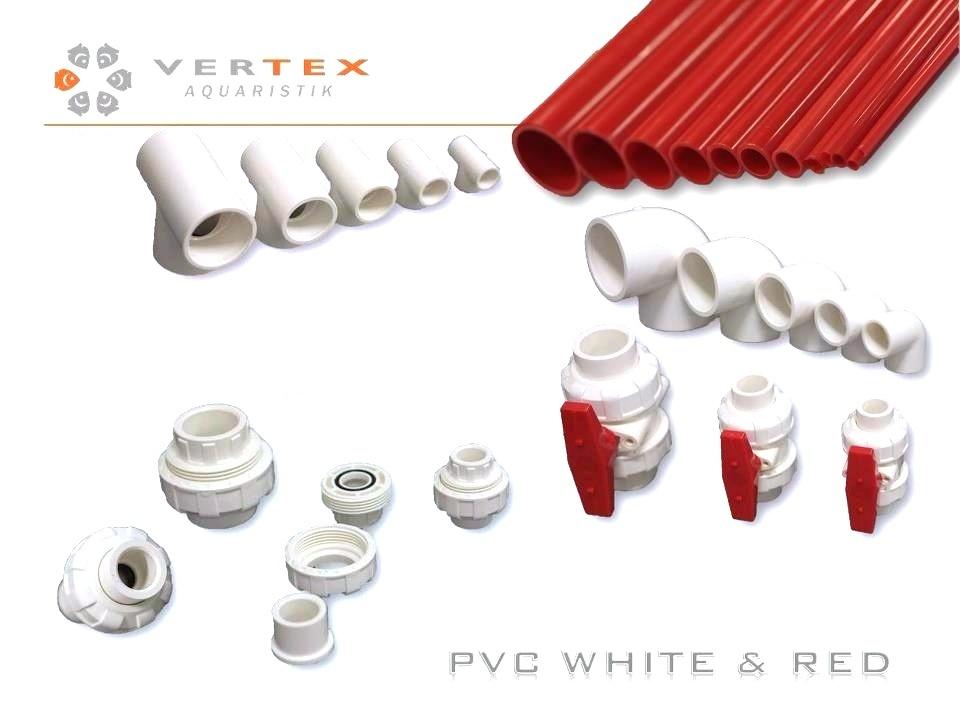 Vertex Red Pvc Tube 63 1000mm Vertex Marine Aquatics Eu