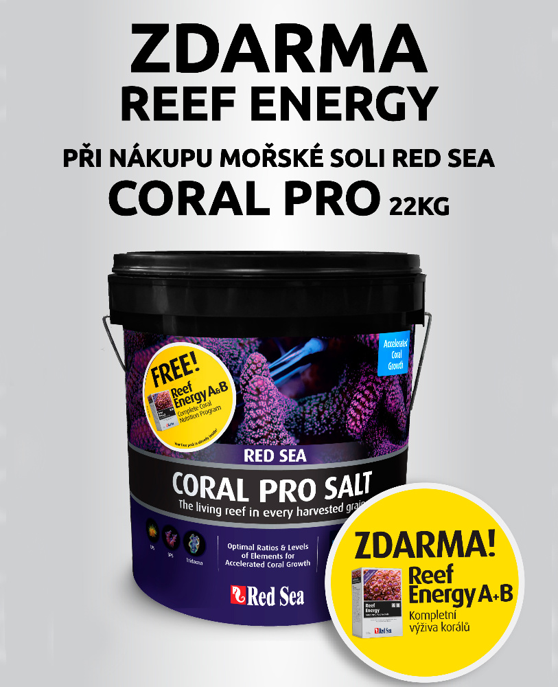 Red Sea Coral PRO + Reef Energy A+B ZDARMA (22kg / 2x